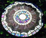 Stained Glass Tables made on Gabriola Island, near Nanaimo, BC, Vancouver Island