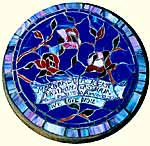 Stained Glass Memorials made on Gabriola Island, near Nanaimo, BC, Vancouver Island